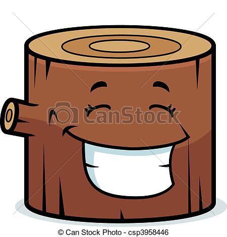 Wood clipart cartoon Log Clip log Smiling of