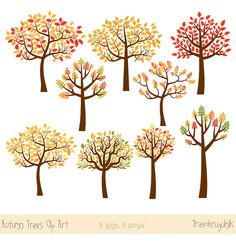Wood clipart colorful tree Clip tree tree Download Fall
