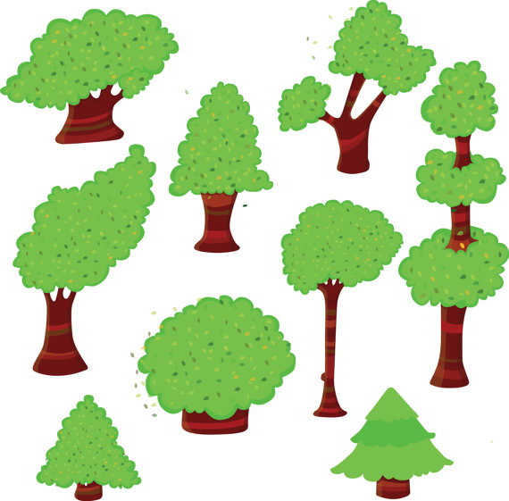 Wood clipart forest tree Wood art clipart clipart trees