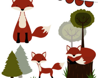 Wood clipart forest tree Clipart nature Clipart Fox Clipart