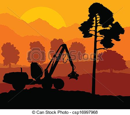 Wood clipart lumberjack Wood landscape  Forest down