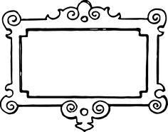 Wood clipart frameborder Vgosn_vintage_frame_border_clipart_black_white corners on white black