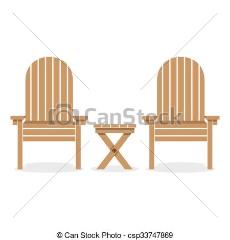 Wood clipart garden chair  Wooden Clip Table Art