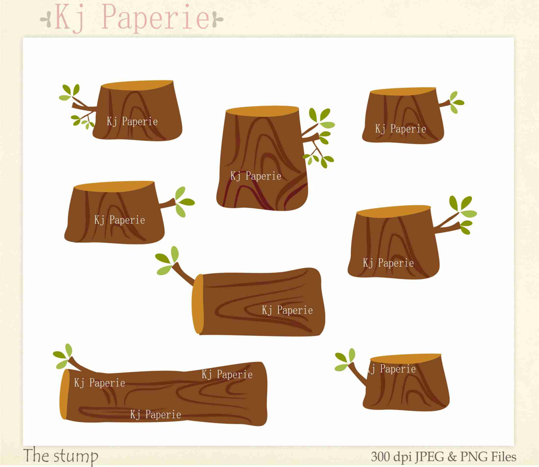 Wood clipart green forest Cute art clip Clip