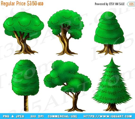 Wood clipart green forest Forest Green Art Hand Green