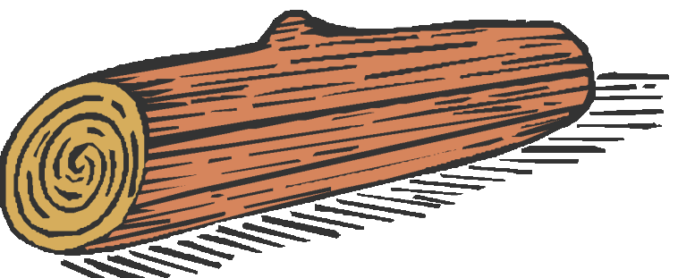 Wood clipart hollow log Clip Log Log Hollow image