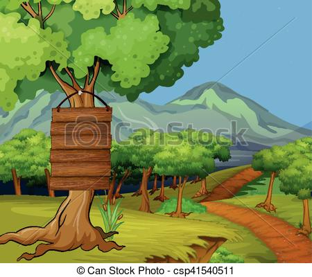 Wood clipart jungle scene Jungle in csp41540511 signs Scene