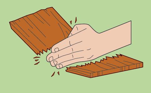 Wood clipart karate chop #10
