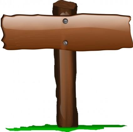 Wood clipart papan tanda Free Clip Sign Vector Free