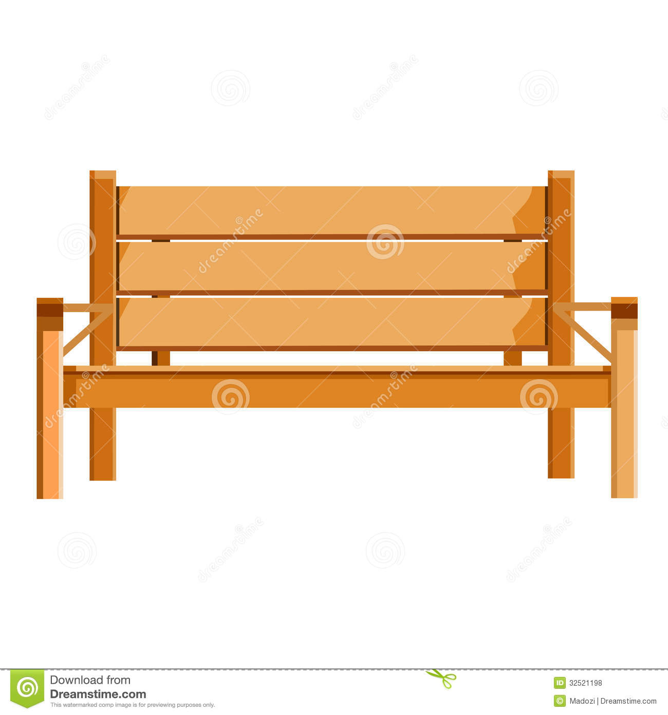 Wood clipart park bench #8