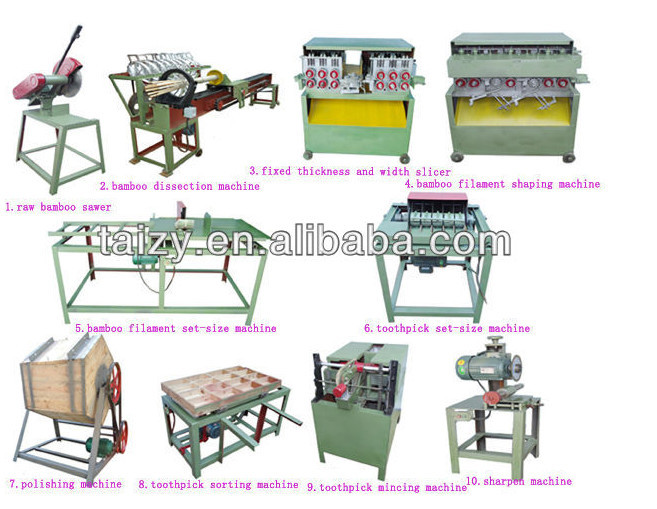 Wood clipart wooden stick /bamboo machine Picker Tooth Machine