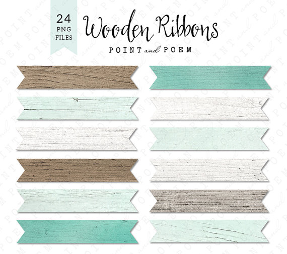 Wood clipart ribbon  This White is file
