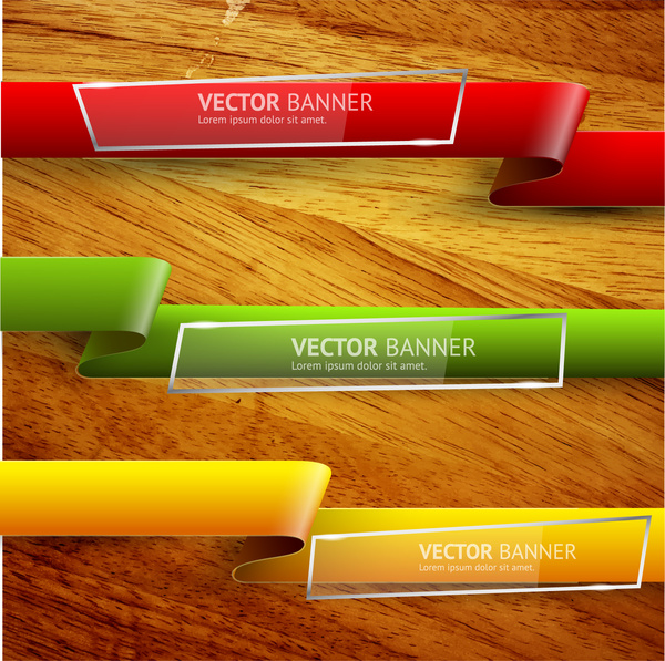 Wood clipart ribbon Vector ribbon download banner background