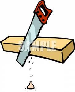 Wood clipart saw cutting #5