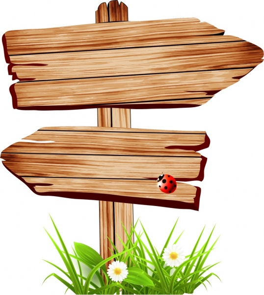 Wood clipart signboard (101 retro commercial download for