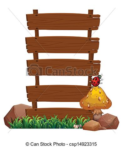 Wood clipart signboard Bug of top wooden top