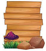 Wood clipart signboard Clip and Symbol bottom mushroom