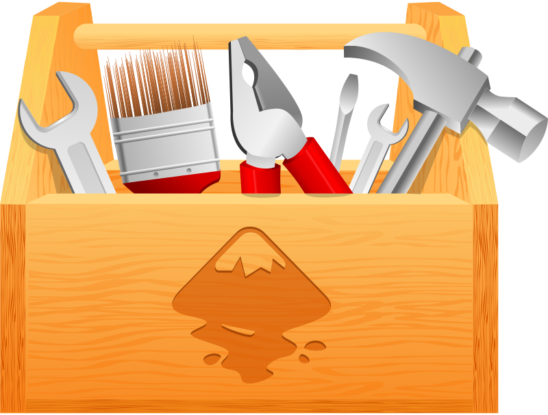 Brown clipart toolbox Tool Wood Box Clipart Clipart