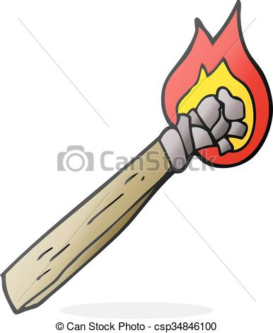 Wood clipart torch Freehand cartoon wood of wood