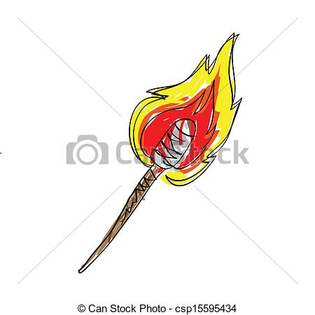 Wood clipart torch White drawn torch Hand torch