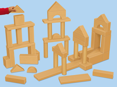 Wood clipart wood block  Learning Stack & Blocks