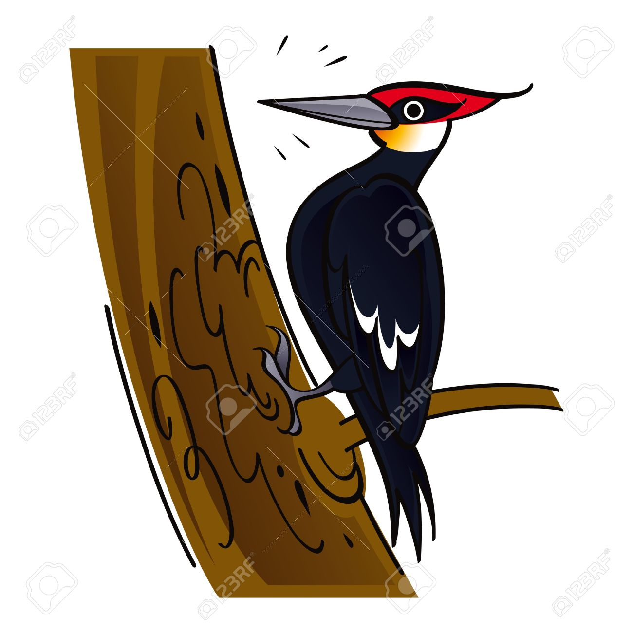 Wood clipart hollow log Woodcutter clipart bird clipart bird