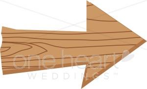 Wood clipart wooden arrow Arrow Wooden Wedding Clipart Clipart