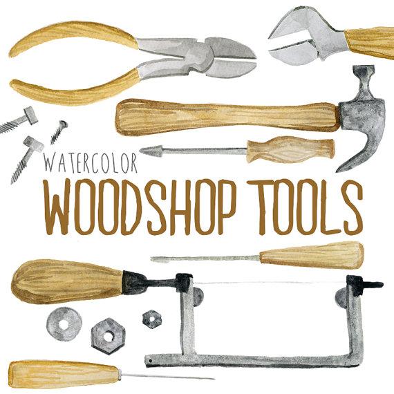 Wood clipart woodwork Woodshop tools clipart wood tools