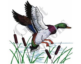 Wood Duck clipart cattails Cattails Etsy Machine Design Ducks