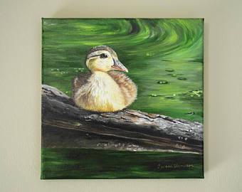 Wood Duck clipart woodland Wood Original Etsy painting art