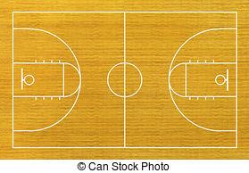 Wooden Floor clipart basketball court floor And Basketball  Stock court
