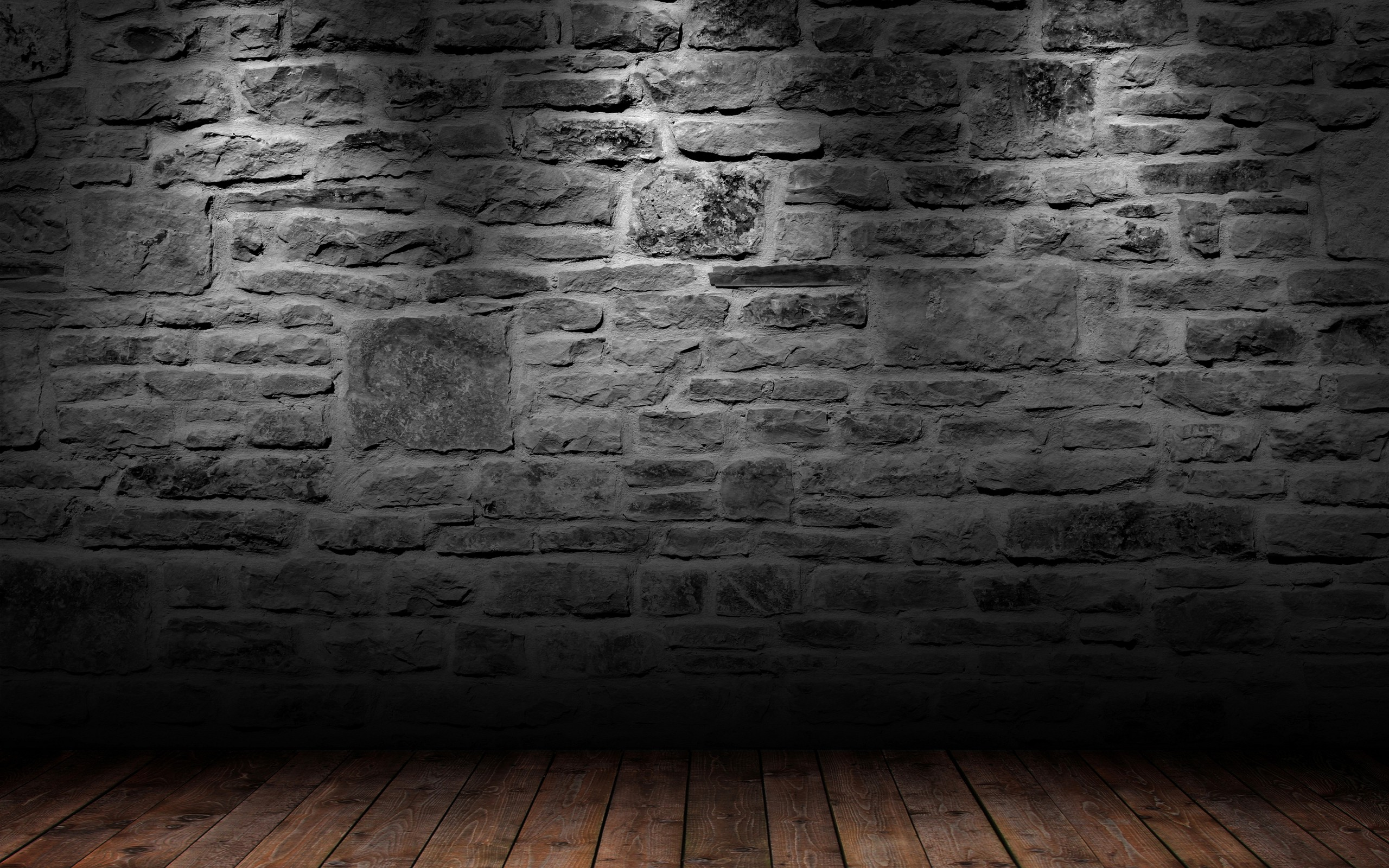Wooden Floor clipart brick wallpaper 3D Room with 2560x1600 Floor