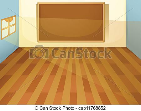 Wooden Floor clipart classroom floor Of empty illustration classroom Vector