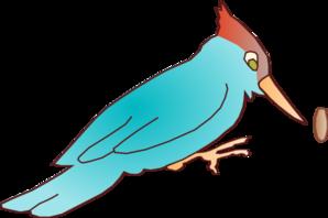 Woodpecker clipart pecking Cartoon » art Blue Woodpecker