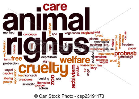 Word clipart animal Illustrations cloud  Animal rights