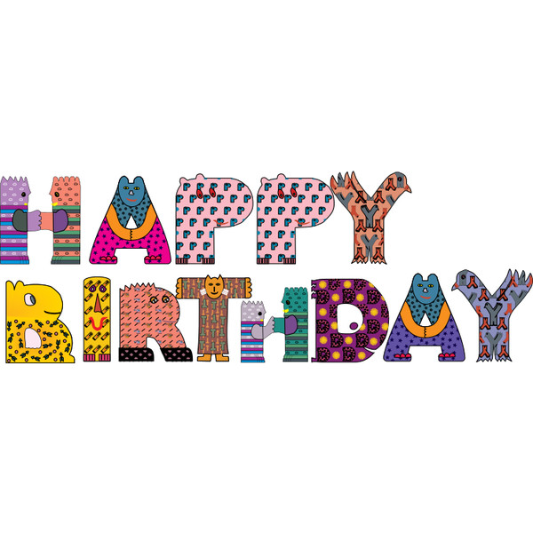Word clipart animal Words clip liked Birthday Happy