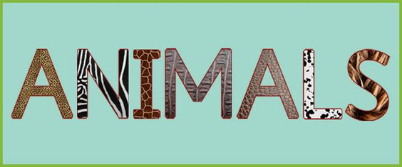 Word clipart animal Animals The word clipart Zone