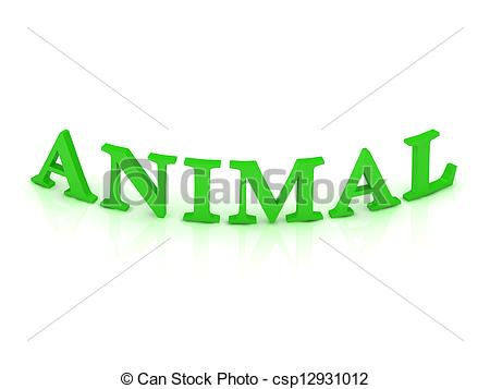 Word clipart animal White Clipart green on ANIMAL