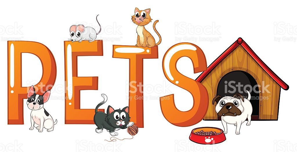 Word clipart animal With Font Design Dog collection