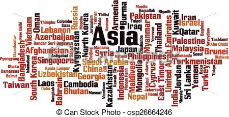 Word clipart asia In in Vector  EPS