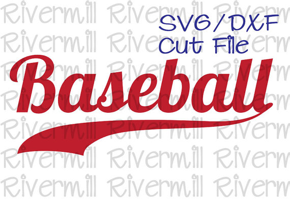 Word clipart baseball Cut RivermillEmbroidery Word SVG on