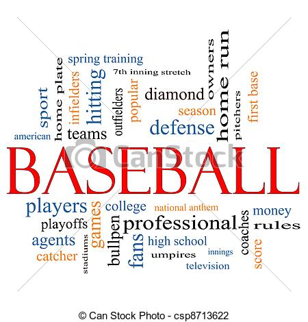 Word clipart baseball Word great Cloud terms such