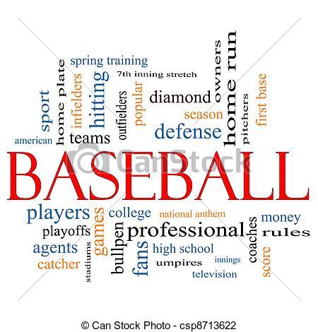 Word clipart baseball Great Baseball Cloud Concept Clip