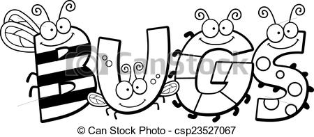 Word clipart bug Illustrations cartoon  Word and