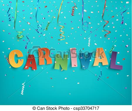 Word clipart carnival Carnival Colorful Clip word of