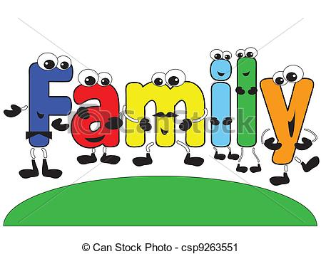 Word clipart cartoon Family%20word%20clipart Word Images Clipart Clipart