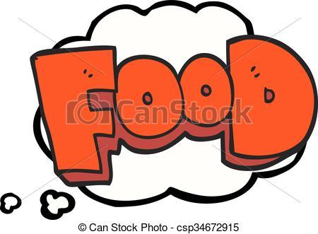 Word clipart cartoon Vector food bubble Art cartoon