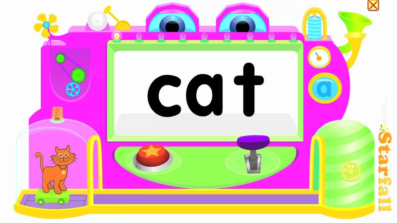 Word clipart cat Starfall /c/a/t/ CVC  g