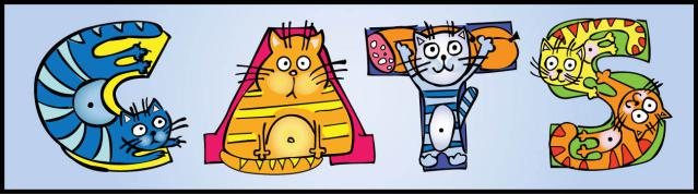 Word clipart cat Clip  Cat Art
