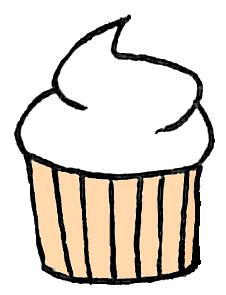 Vanilla Cupcake clipart deviantart Images And Art White Black